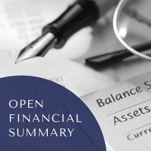 Financial Disclosure (Open summary of financial information)