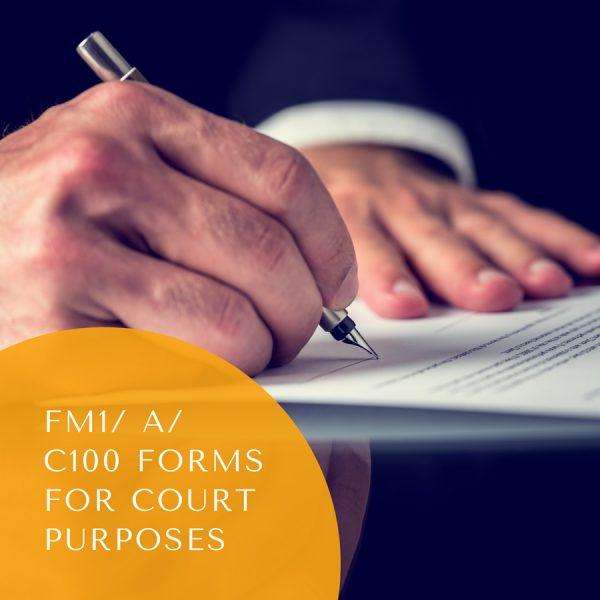 FM1/Form A/Form C100/Divorce Petition for court purposes