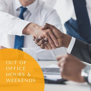 Mediation meeting – Out of office hours & Weekends